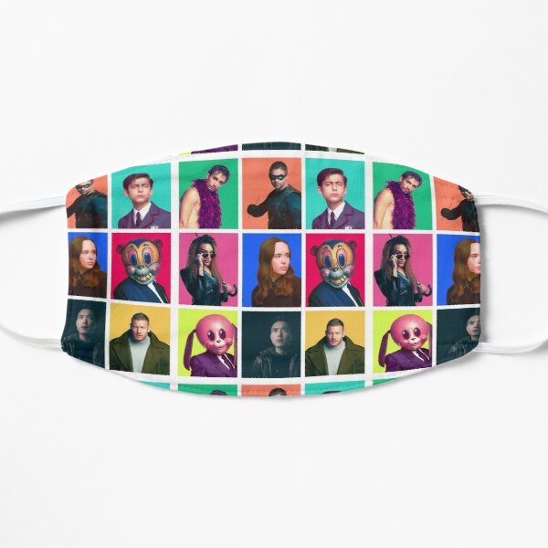 The Umbrella Academy - Character Collage Flat Mask