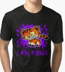 RogueTiger.com - Smirk Purple (dark) Tri-blend T-Shirt