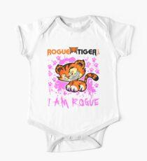 RogueTiger.com - Smirk Logo Pink (light) Kids Clothes