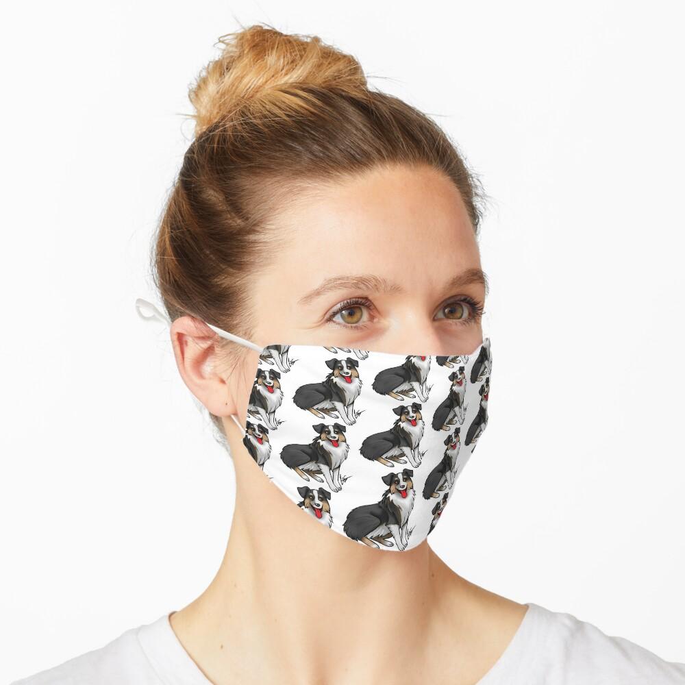 Australian Shepherd - Black Tri-Color Mask