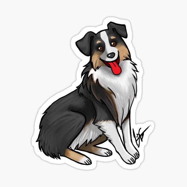 Australian Shepherd - Black Tri-Color Sticker