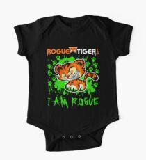 RogueTiger.com - Smirk Logo Green (dark) Kids Clothes