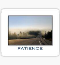Patience Inspirational Art Sticker