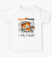 RogueTiger.com - Smirk Logo Gray (light) Kids Clothes