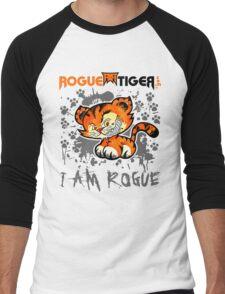 RogueTiger.com - Smirk Logo Gray (light) Men's Baseball ¾ T-Shirt
