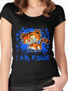 RogueTiger.com - Smirk Blue (dark) Women's Fitted Scoop T-Shirt