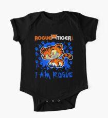 RogueTiger.com - Smirk Logo Blue (dark) Kids Clothes