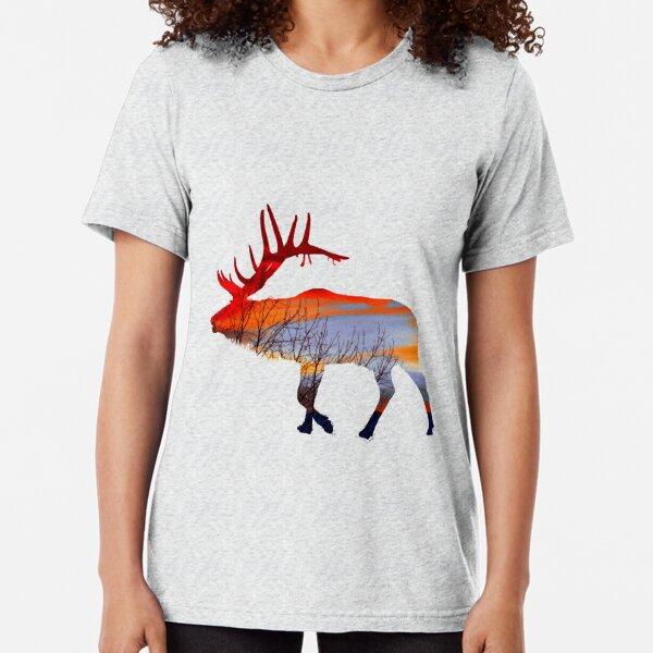 Sunset elk  Tri-blend T-Shirt