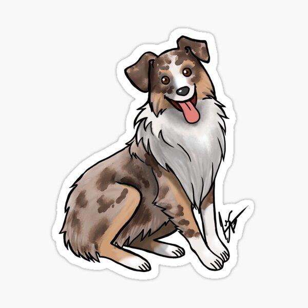 Australian Shepherd - Red Merle Sticker