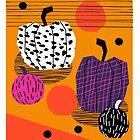 Yar - pumpkin halloween fall autumn throwback retro style fashion urban trendy 1980s 1980 80s 80's by wackadesigns