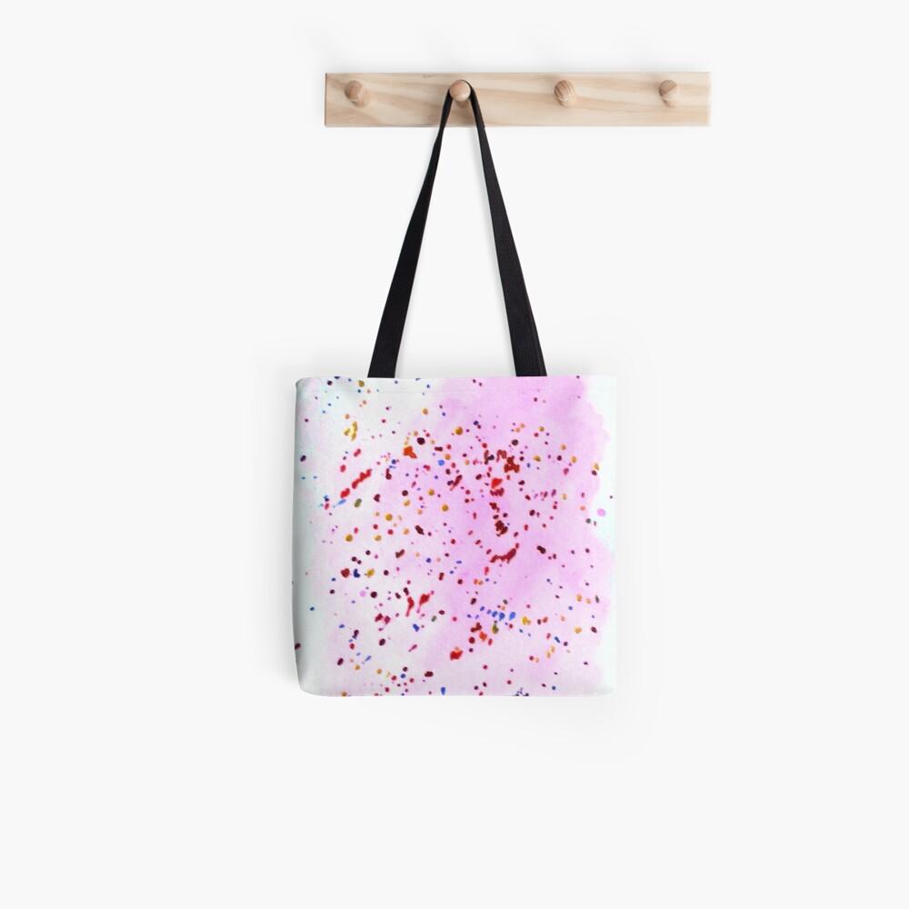 Art Doodle No. 41 Pink Splatter Tote Bag