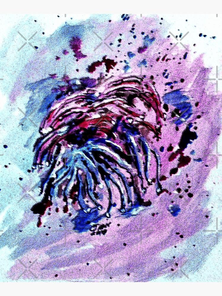 Art Doodle No. 42 Coral Splatter by cjkell