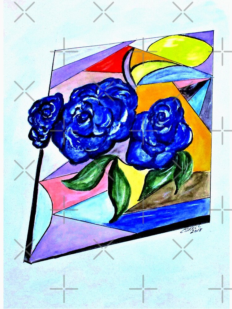 Whimsical Blue Roses Trans BG by cjkell
