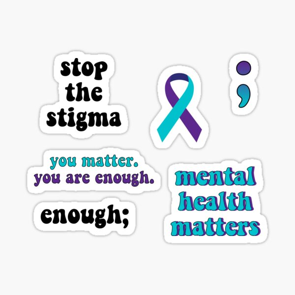 Mental Health Awareness Sticker Pack Sticker