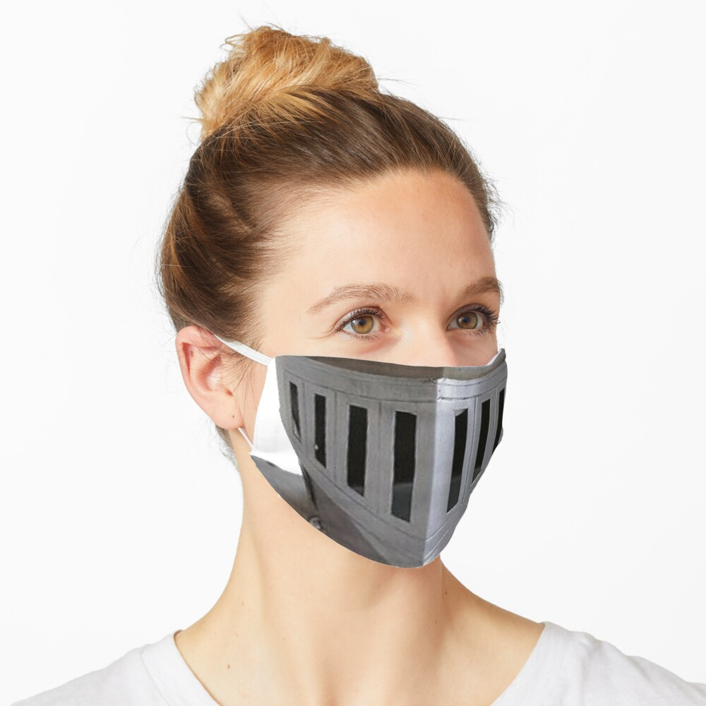 Metal Medieval Knight Face Plate Helmet HEMA Mask