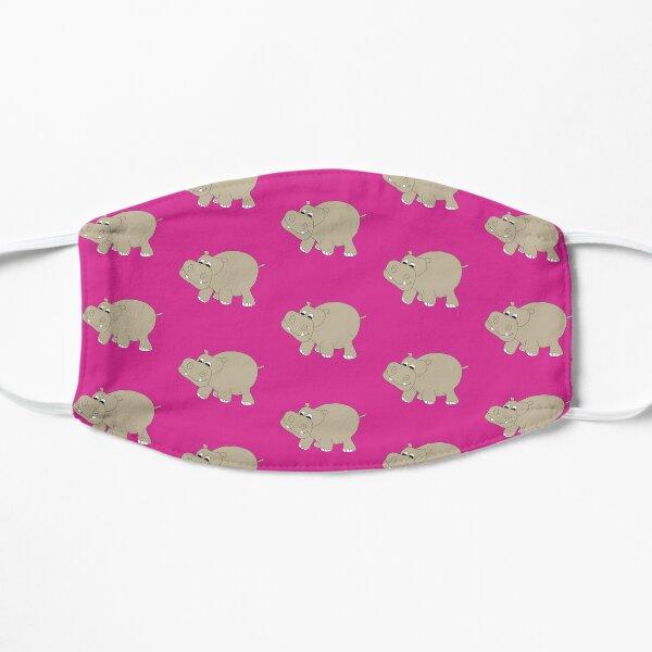 Hippopotamus on Pink Flat Mask