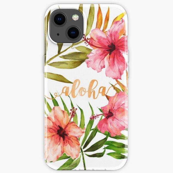 Aloha Tropical Hawaiian Floral Watercolor iPhone Soft Case
