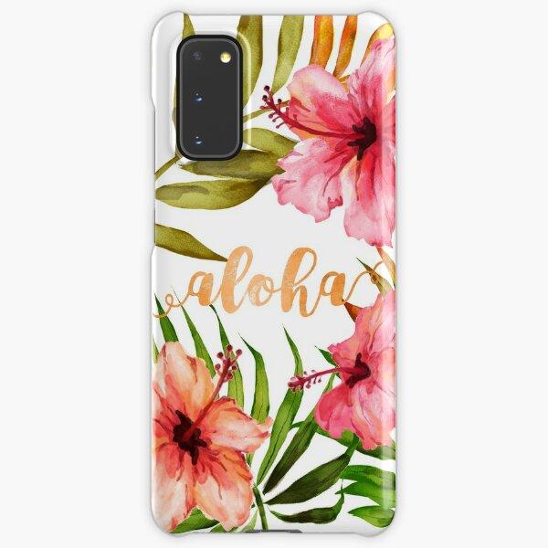Aloha Tropical Hawaiian Floral Watercolor Samsung Galaxy Snap Case