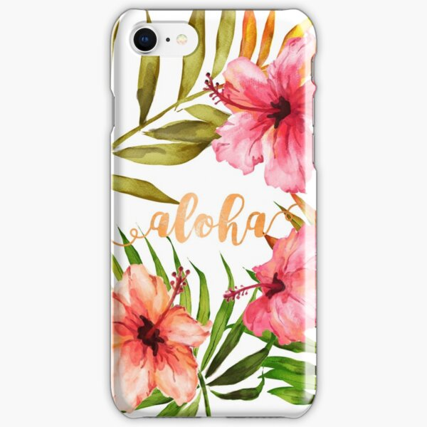 Aloha Tropical Hawaiian Floral Watercolor iPhone Snap Case