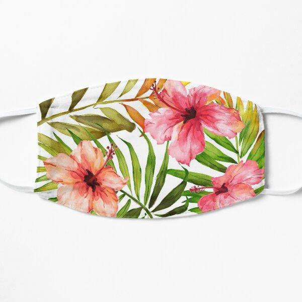 Aloha Tropical Hawaiian Floral Watercolor Mask