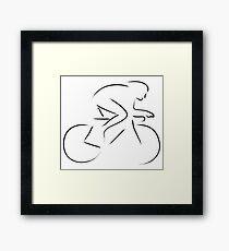 Crono bike Framed Print