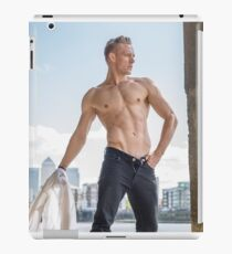 Muscle Beauty at Low Tide with Daniel, shirt in hand iPad Case/Skin