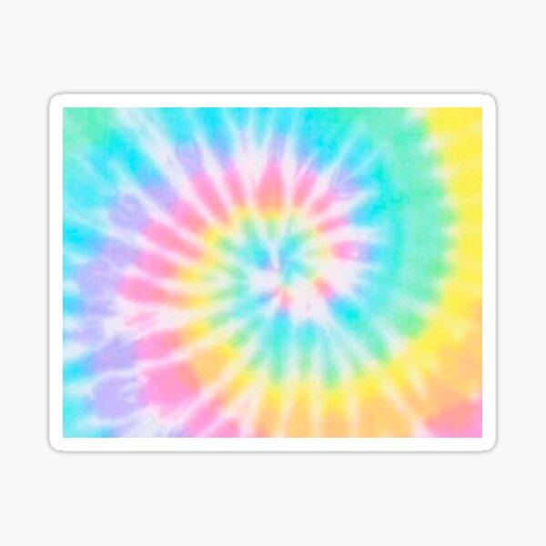 Pastel Rainbow Tie Dye Pattern Sticker
