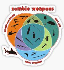 Zombie weapons Sticker