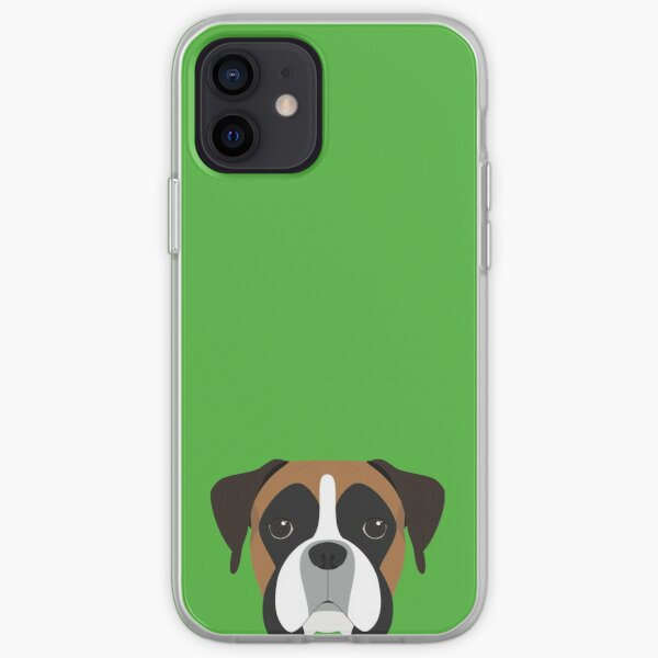 Boxer Dog Portrait Illustration iPhone Soft Case