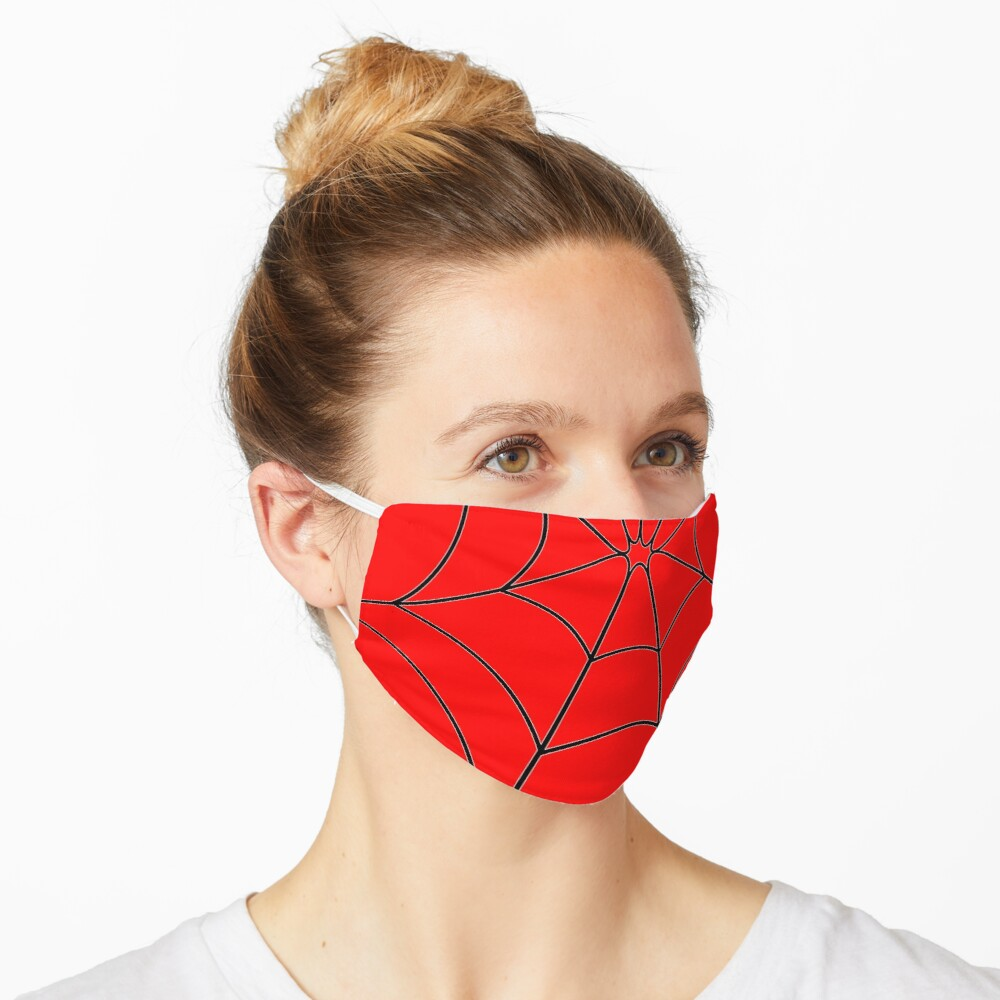 Red Web Mask