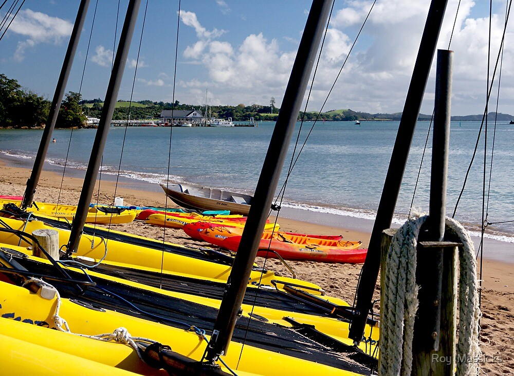 Colourful Hire Boats, Paihia Beach..........! by Roy  Massicks