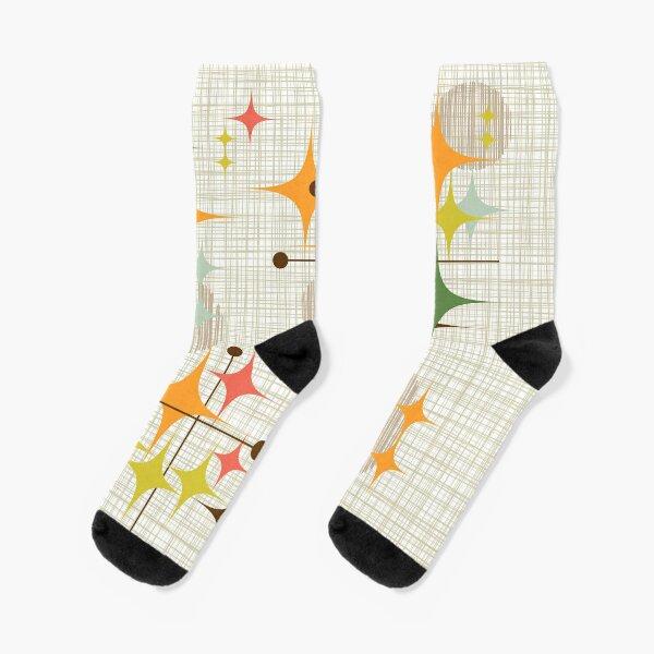 Eames Era Starbursts and Globes 3 (bkgrnd) Socks