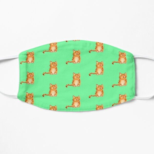 Ginger Cat on green Mask