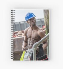 Workman at Low Tide on the Thames River with Frank Spiral Notebook
