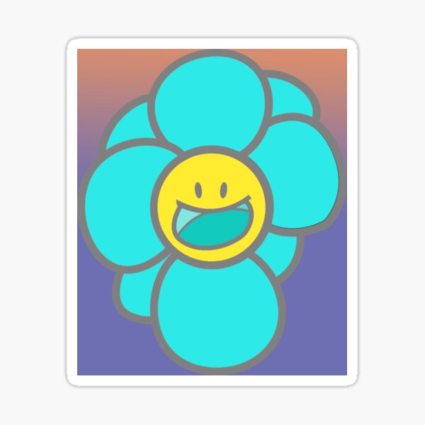 Holographic Kawaii Flower Sticker