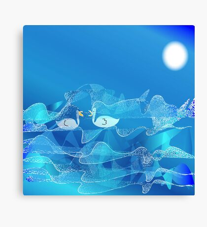 What are You doing out on a night like this Canvas Print