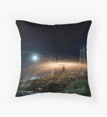Steel Spiral Throw Pillow