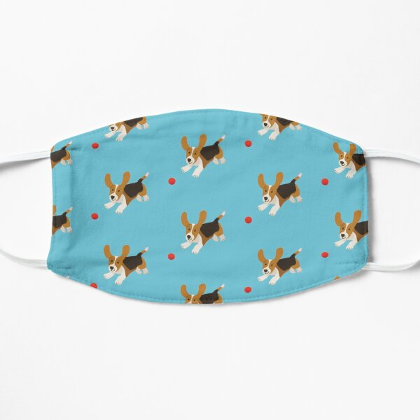 happy basset hound Mask