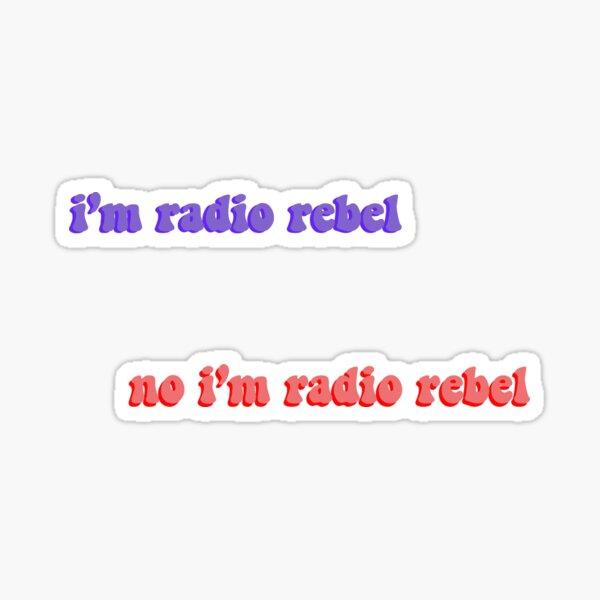 paquete de pegatinas de radio rebelde Pegatina