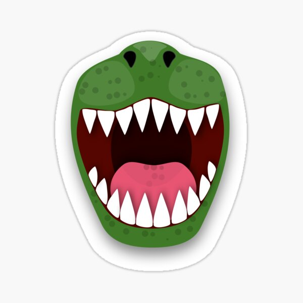Funny T Rex dinosaur mouth Sticker
