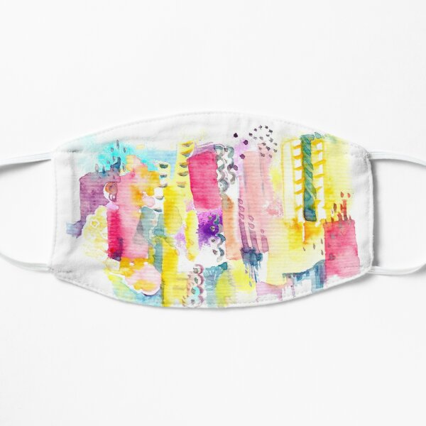 Abstract Watercolor Cityscape Mask