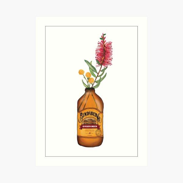 Floral Ginger Beer Art Print