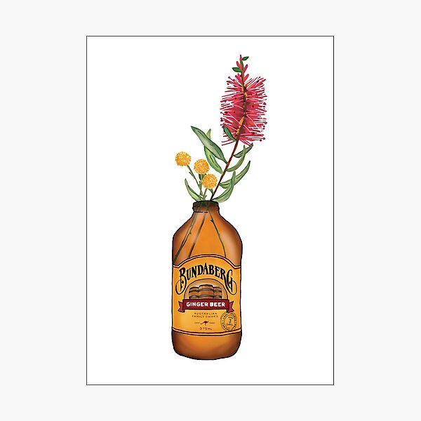 Floral Ginger Beer Photographic Print