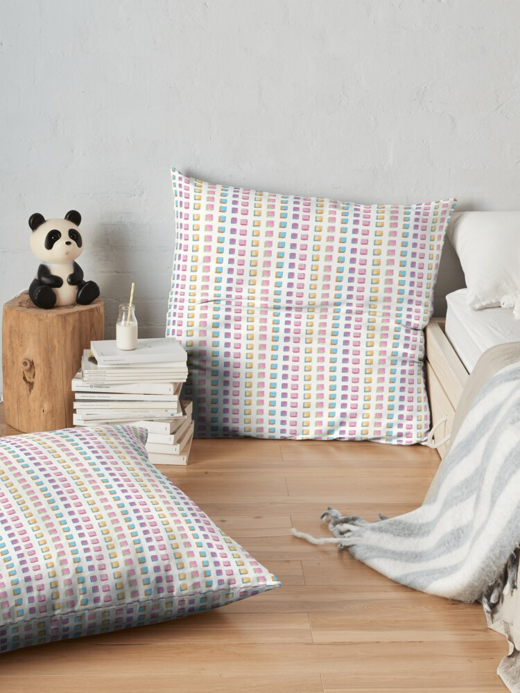 Alternate view of Polka Cubes Floor Pillow