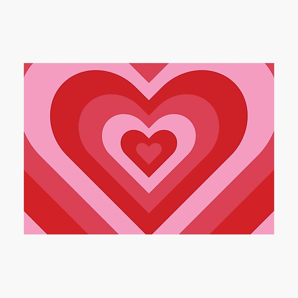 Sugar, Spice & Everything Nice Powerpuff Girls Heart Pattern Photographic Print