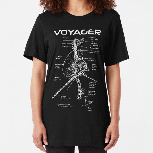 Voyager Program - White Ink Slim Fit T-Shirt
