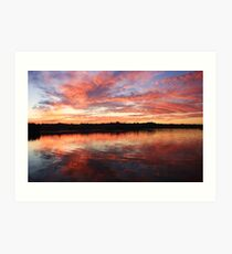 chinderah sunset ... Art Print