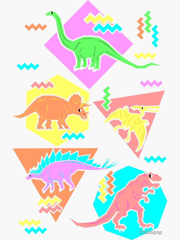 Neunziger Jahre Dinosaurier Muster von chobopop