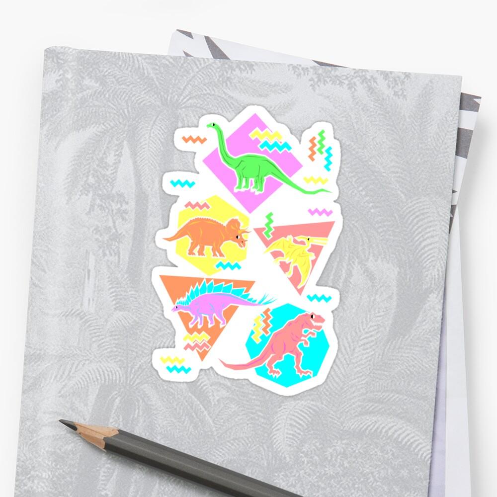 Neunziger Jahre Dinosaurier Muster Sticker