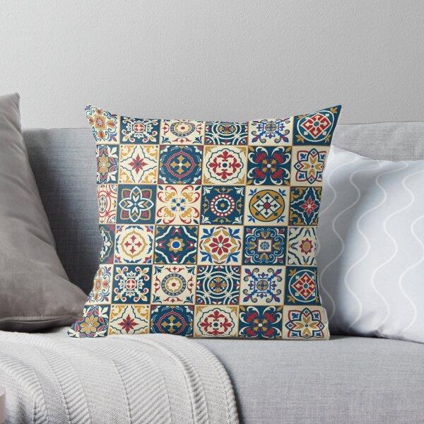 Moroccan Tiles Pattern Throw Pillow